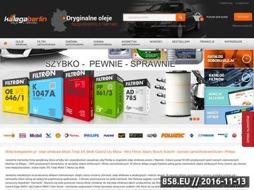 Zrzut strony Oleje silnikowe Castrol, Mobil, Total, Elf, Shell i Motul Valvoline