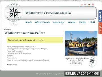 Zrzut strony Rosa Ventorum Rejsy na ryby Kołobrzeg