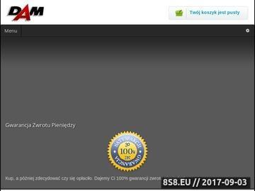 Zrzut strony DAM - sklep z artykułami samochodowymi w Wrocławiu