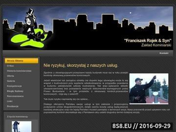 Zrzut strony Zakład Kominiarski - Kominiarz Rojek & Syn
