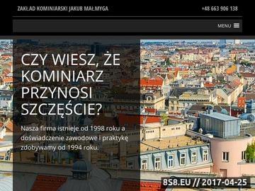 Zrzut strony Zakład Kominiarski Jakub Małmyga