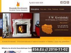 Miniaturka domeny kominkikwidzinski.pl