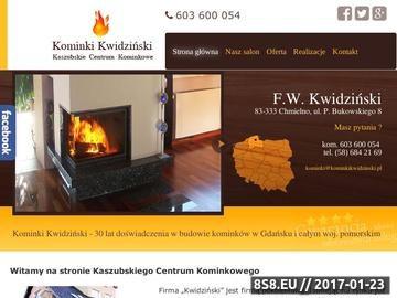 Zrzut strony Kominki, budowa kominków, sprzedaż wkładów kominkowych