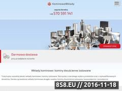 Miniaturka domeny www.kominowewklady.pl