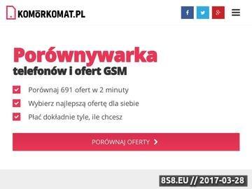 Zrzut strony Porównywarka GSM - Komórkomat.pl