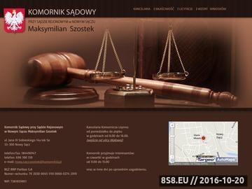 Zrzut strony Kancelaria Komornicza Maksymilian Szostek