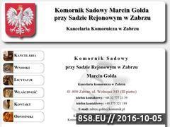 Miniaturka domeny komornik-zabrze.com.pl