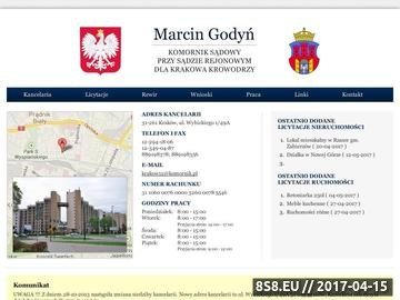 Zrzut strony Licytacje komornicze - Marcin Godyń