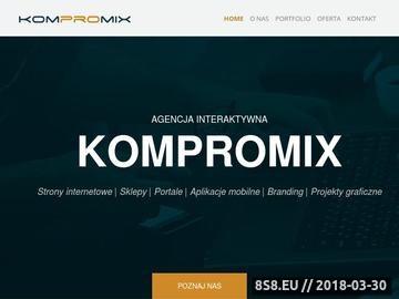 Zrzut strony Kompromix - tworzenie skutecznych stron www
