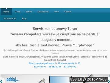 Zrzut strony Serwis komputerowy w Toruniu
