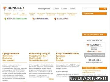 Zrzut strony Koncept Systemy Informatyczne