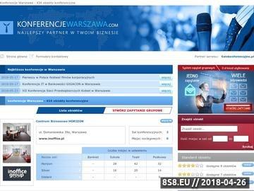 Zrzut strony Konferencje Warszawa