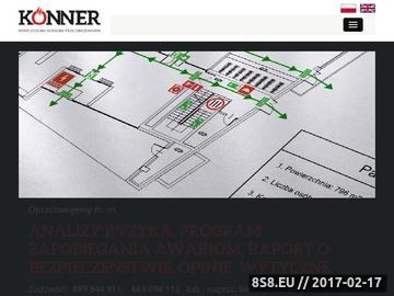 Zrzut strony Konner - kompleksowa ochrona przeciwpożarowa
