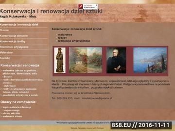 Zrzut strony Konserwacja i restauracja zabytków malarstwa, rzeźby i ceramiki