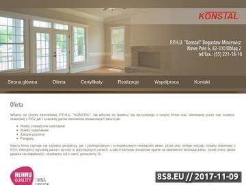 Zrzut strony PPHU Konstal - usługi montażowe