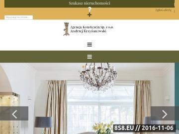 Zrzut strony Agencja Konstancin - agencja nieruchomości
