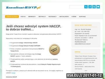 Zrzut strony Wdrażanie systemu HACCP