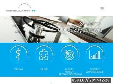 Zrzut strony Konsultant-IT - oprogramowanie dla służby zdrowia Eskulap