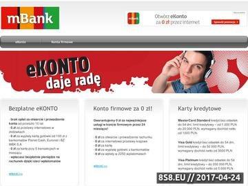 Zrzut strony Najlepsze bezpłatne konto bankowe w Polsce! Kredyty, ubezpieczenia - MBank