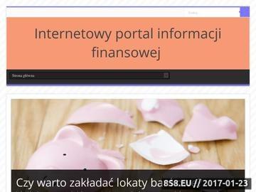 Zrzut strony Konta bankowe