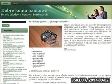 Zrzut strony Konto na bank