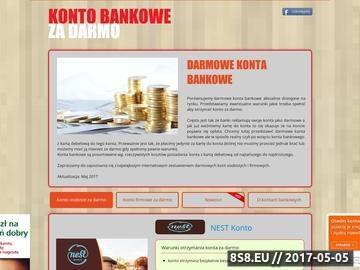 Zrzut strony Aktualne oferty darmowych kont bankowych
