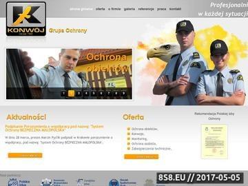 Zrzut strony Konwój - Koncesjonowana Agencja Ochrony Osób i Mienia