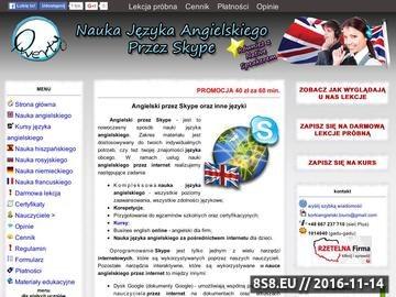Zrzut strony Nauka Języka Angielskiego przez Skype oraz Tłumaczenia