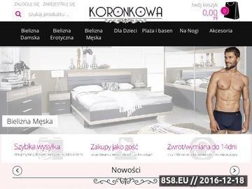 Zrzut strony Koronkowa - sklep z bielizną