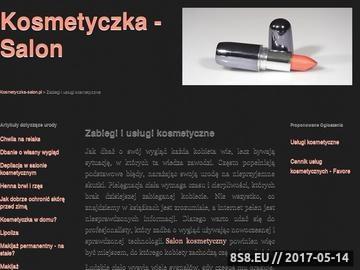 Zrzut strony Usługi kosmetyczne