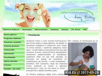 Zrzut strony Gabinet Kosmetyki Lekarskiej Anny Drobny
