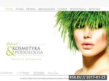 Zrzut strony Kosmetyka profesjonalna, podologia, makijaż i medycyna estetyczna