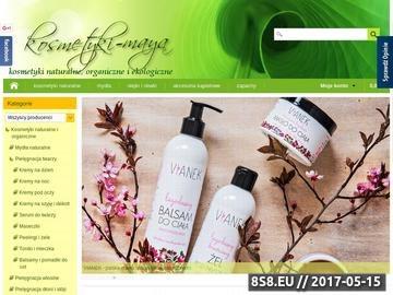 Zrzut strony Kosmetyki organiczne sklep internetowy