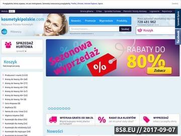 Zrzut strony Sklep internetowy polskie kosmetyki - kosmetyki online