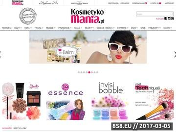 Zrzut strony Kosmetkomania.pl - drogeria internetowa, markowe kosmetyki, akcesoria