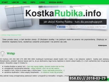 Zrzut strony Jak ułożyć kostkę Rubika - kurs dla początkujących