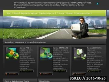 Zrzut strony Program kosztorysujący Rodos, Norma Pro, Project, Zuzia