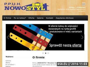 Zrzut strony Nowostyl - produkujemy kotwy do okien i do drzwi