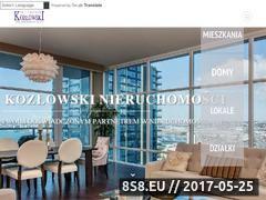 Miniaturka domeny www.kozlowski-nieruchomosci.pl