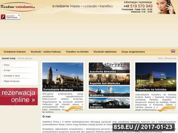 Zrzut strony Zwiedzanie Krakowa z przewodnikiem