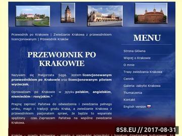 Zrzut strony Przewodnik Kraków - Cracow Guide - przewodnik po Krakowie - zwiedzanie Krakowa
