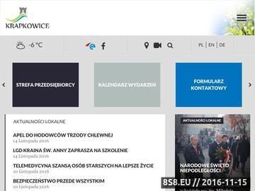 Zrzut strony Krapkowice gmina