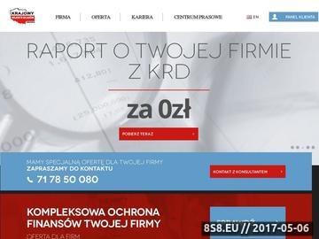 Zrzut strony Krajowy rejestr długów