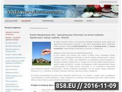 Miniaturka domeny www.kredyt-mieszkaniowy.info