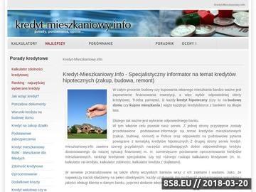 Zrzut strony Kredyt na budowę domu, poradnik - kredyt-mieszkaniowy.info