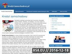Miniaturka domeny www.kredyt-samochodowy.pl
