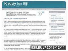 Miniaturka domeny www.kredytbezbik.pl