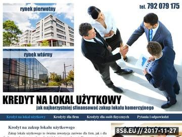 Zrzut strony Informacje na temat kredytu na zakup lokalu użytkowego