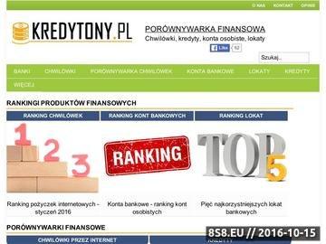Zrzut strony Porównanie i ranking chwilówek, pożyczek przez Internet