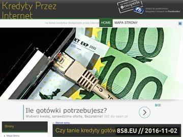 Zrzut strony Kredyty przez internet